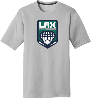 Lax Fed Silver CottonTouch Performance T-Shirt