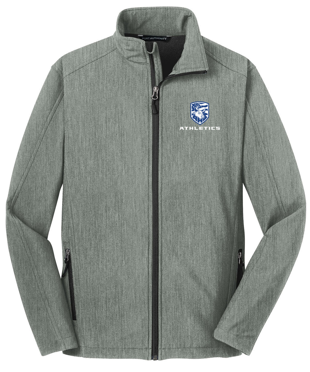 Accompsett Middle School Men's Light Grey Soft Shell Jacket