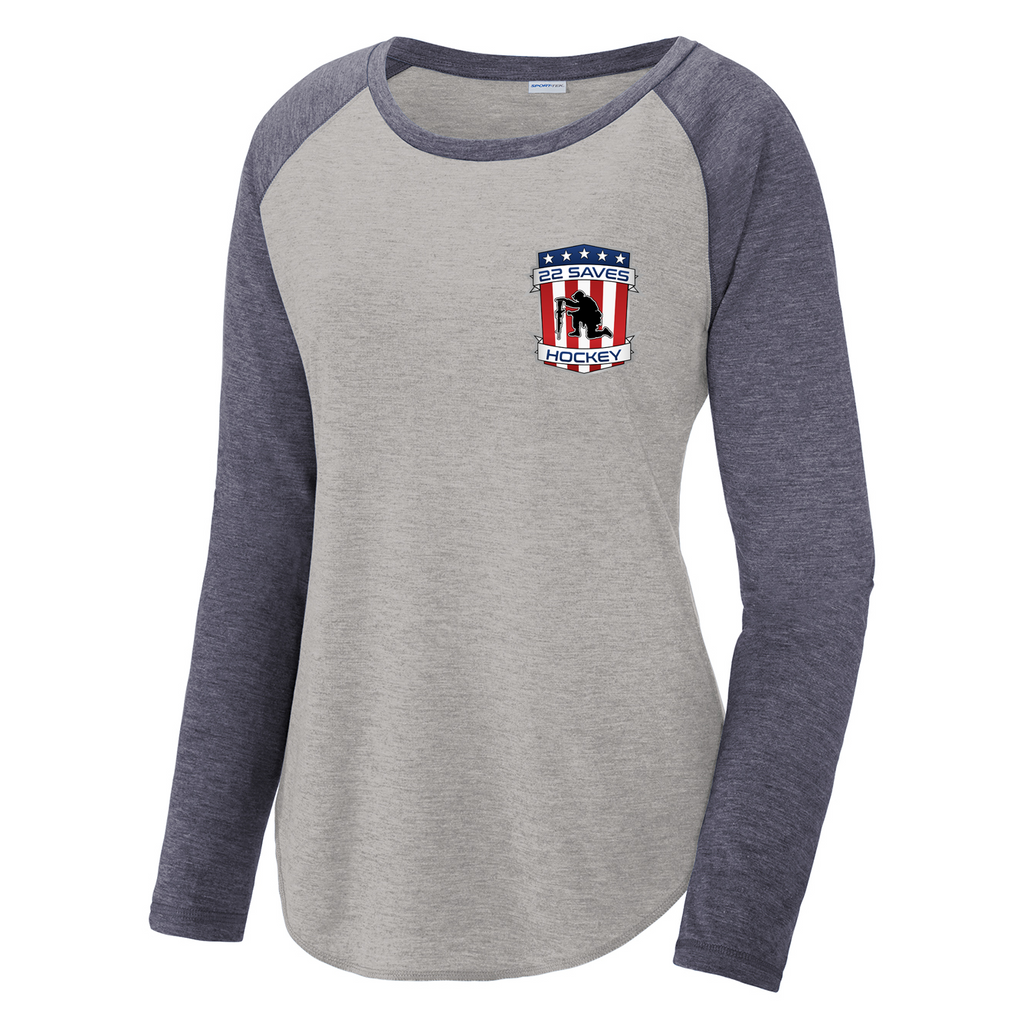 22 Saves Hockey Women's Raglan Long Sleeve CottonTouch