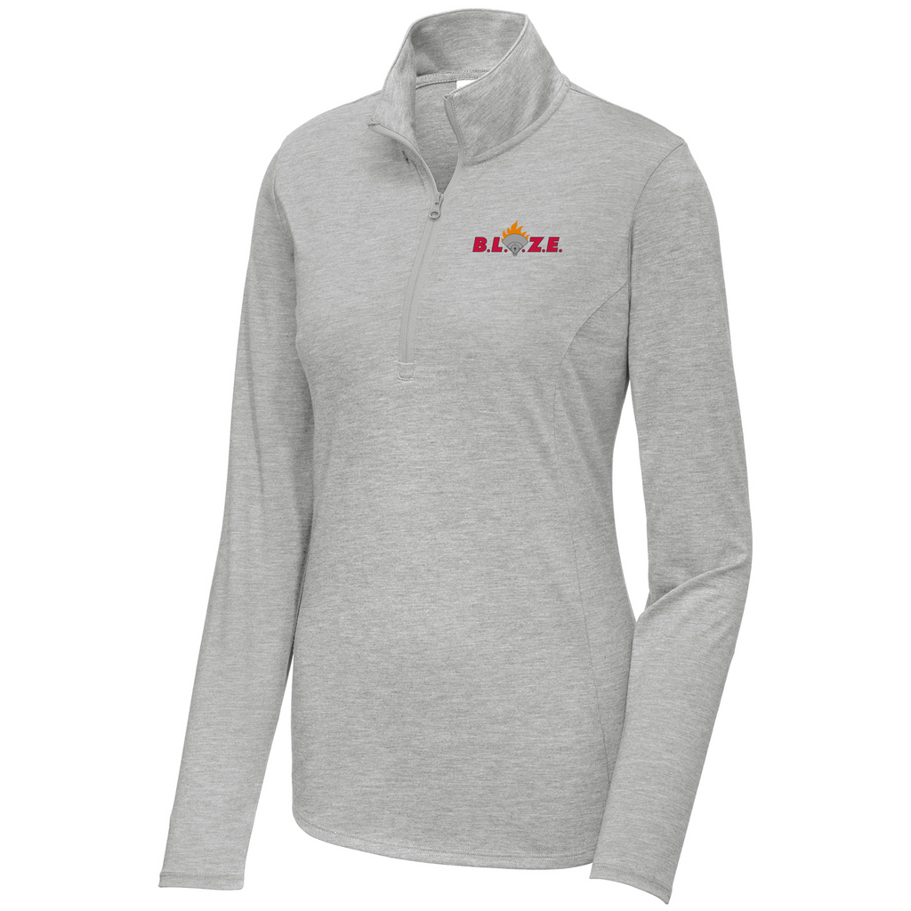 BLAZE 22:6 Diamond Sports Women's Tri-Blend Quarter Zip