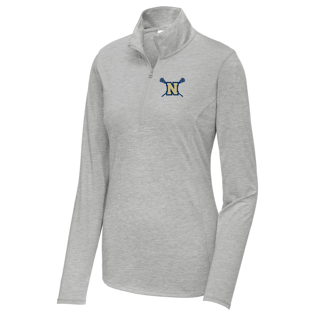 Newington High School Lacrosse Womens Tri-Blend Quarter Zip