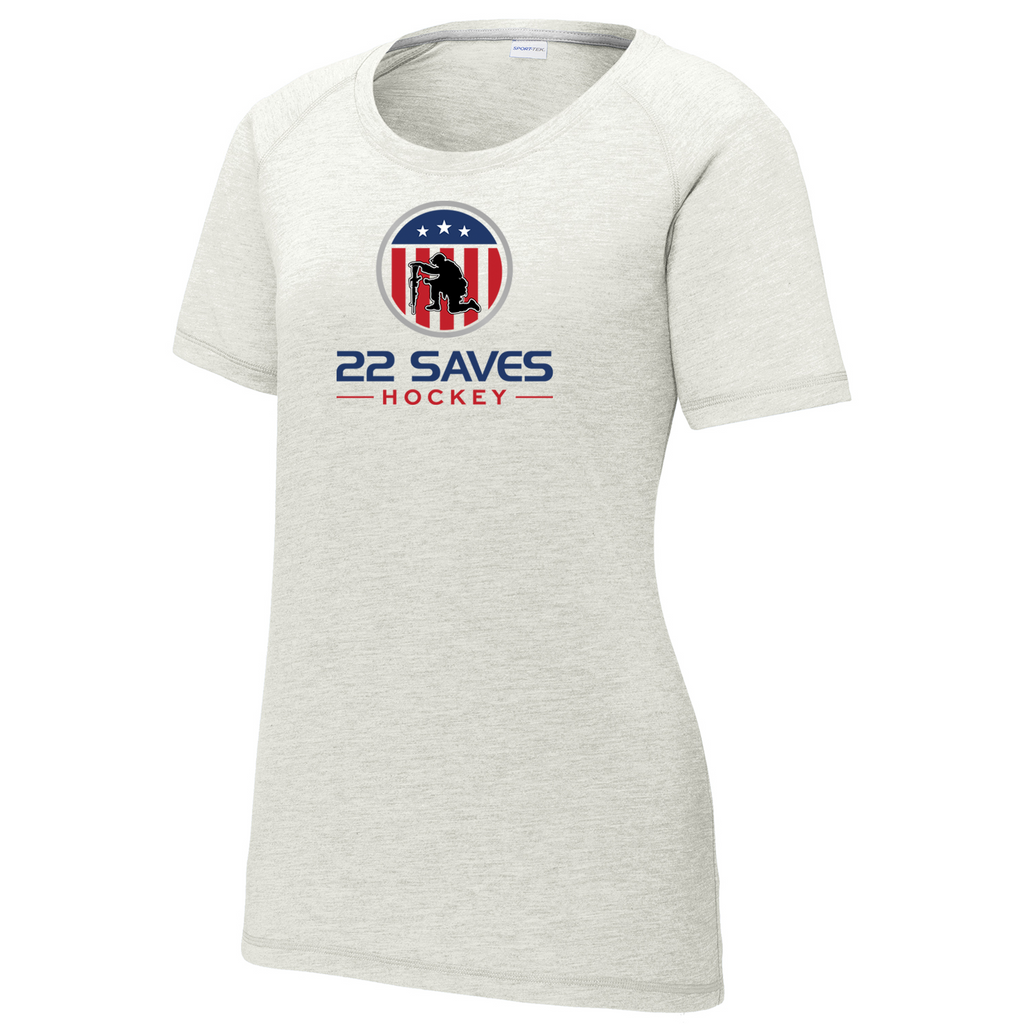 22 Saves Hockey Women's Raglan CottonTouch