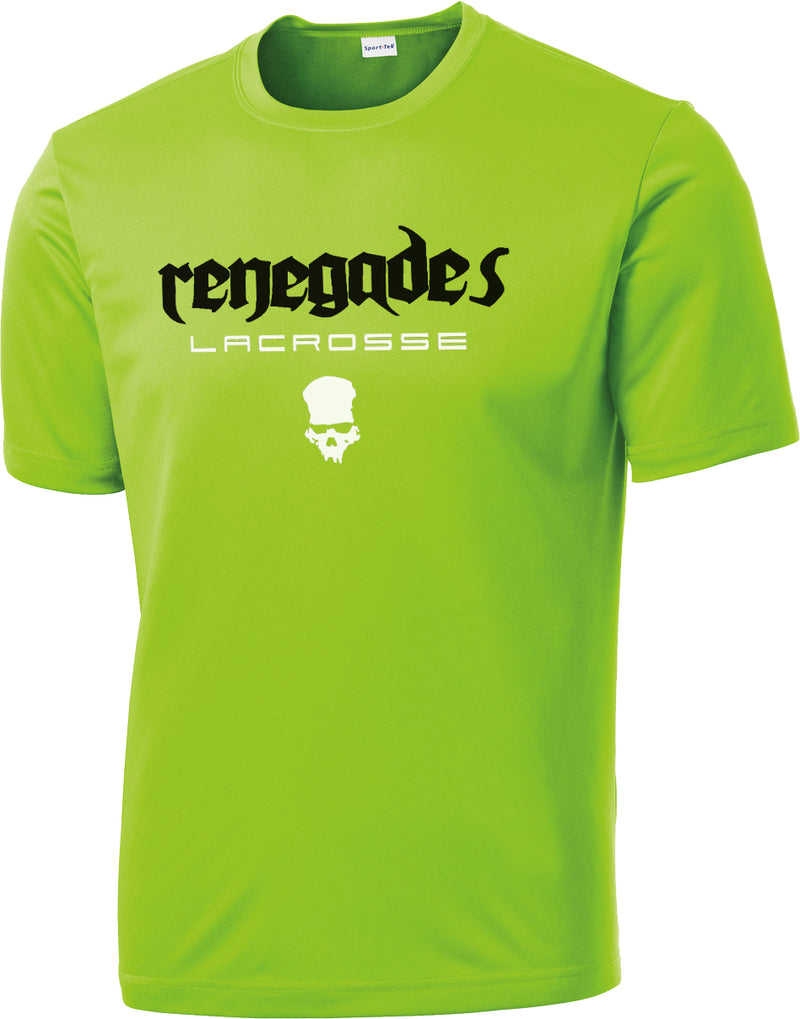 Renegades Lacrosse Lime Shock Performance T-Shirt