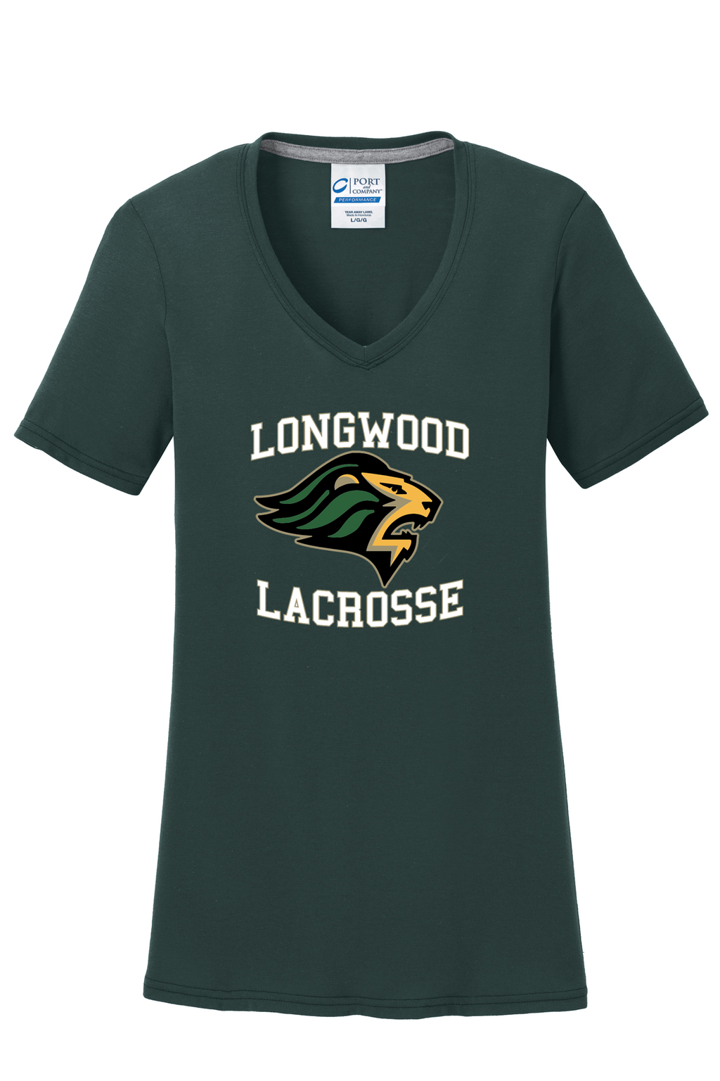 Longwood Lacrosse Women's Green T-Shirt