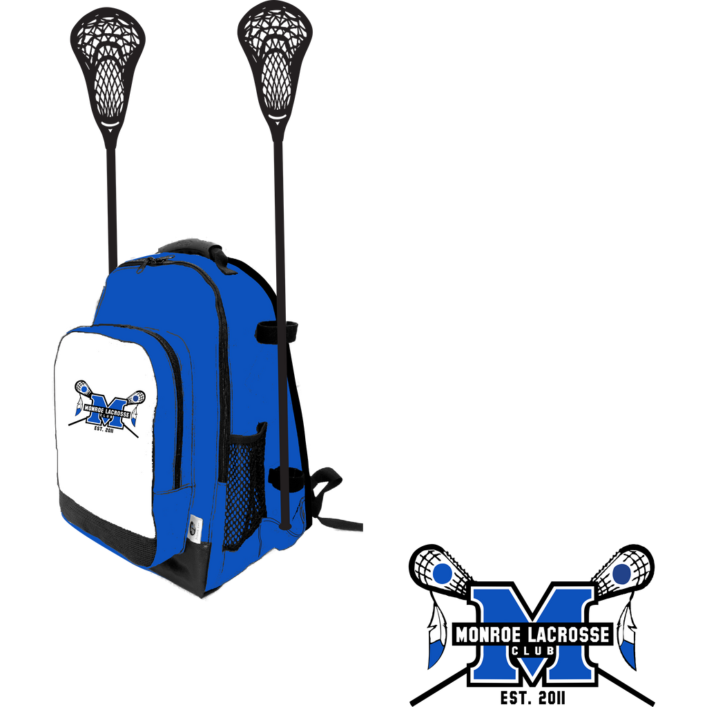 Monroe Braves Girls Lacrosse Side Lacrosse Stick Holder Small Backpack