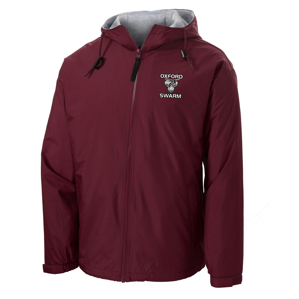 Oxford Youth Lacrosse Maroon Hooded Jacket