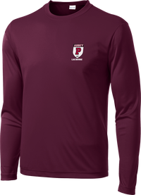 Portsmouth Lacrosse Maroon Long Sleeve Performance Shirt