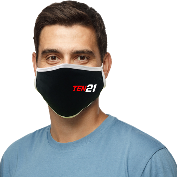 TEN21 Lacrosse Blatant Defender Face Mask - Black