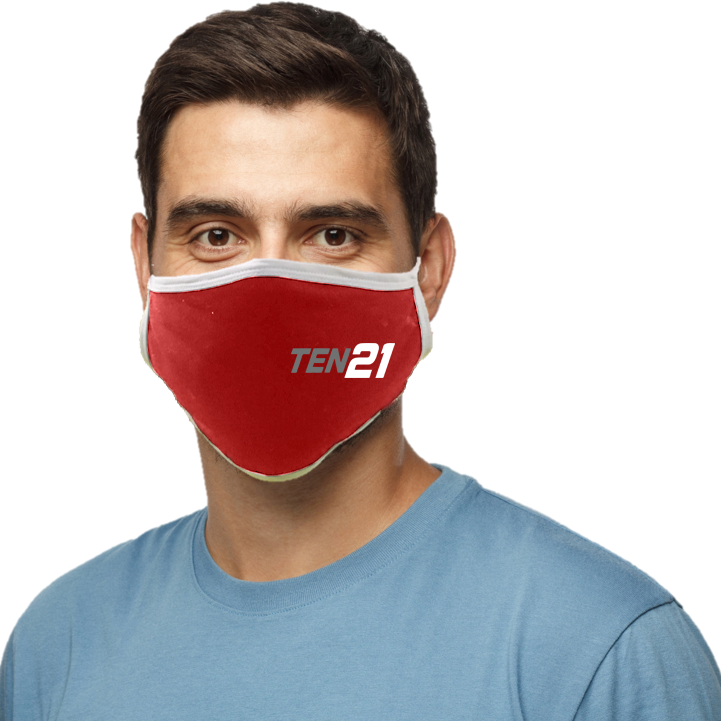 TEN21 Lacrosse Blatant Defender Face Mask - Red