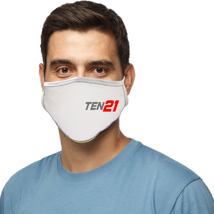 TEN21 Lacrosse Blatant Defender Face Mask - White