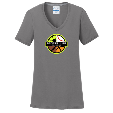 Coastal Lacrosse Women's Grey T-Shirt