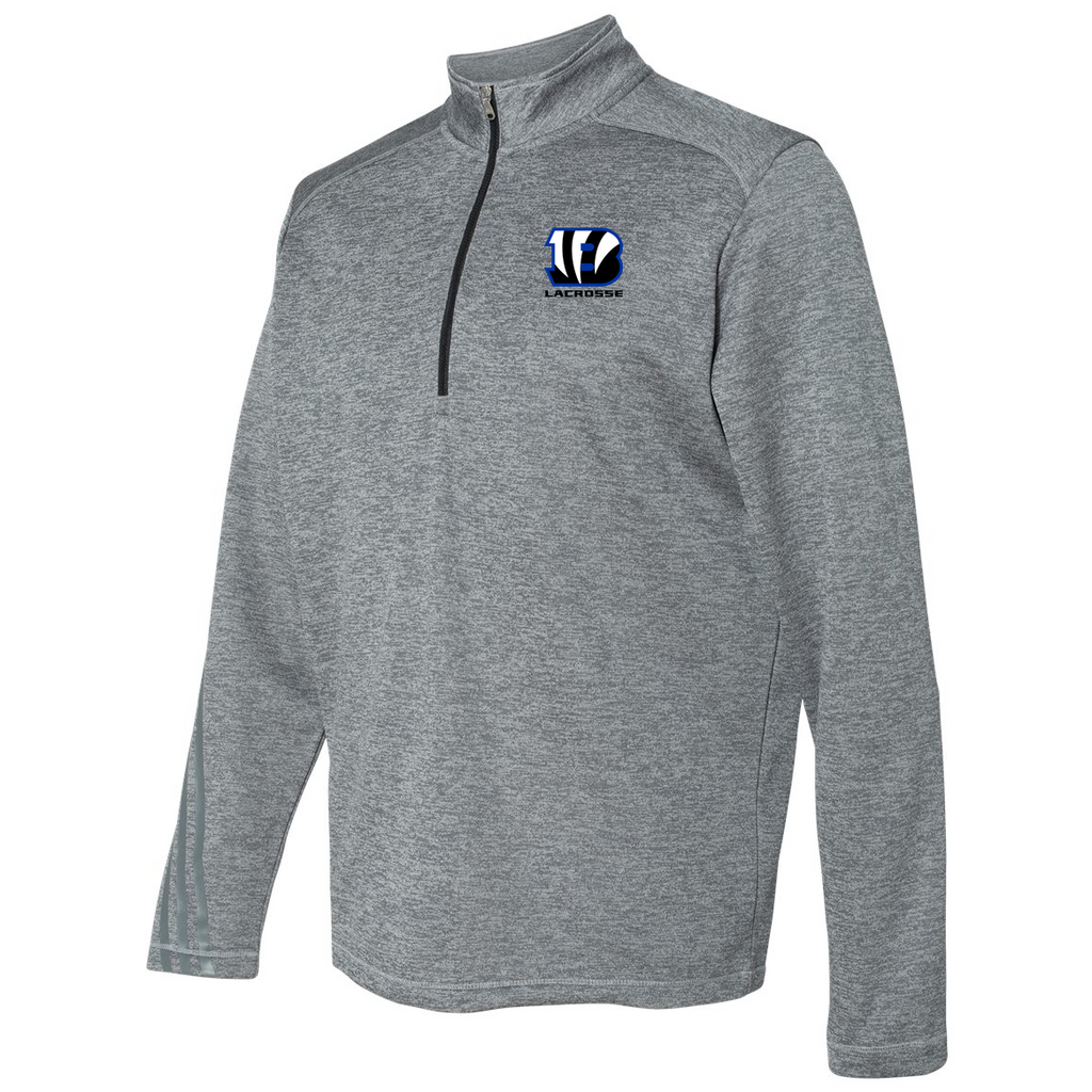 Blake Lacrosse Adidas Terry Heathered Quarter-Zip Pullover