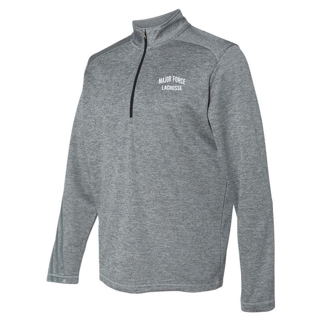 Major Force Lacrosse Adidas Terry Heathered Quarter-Zip Pullover