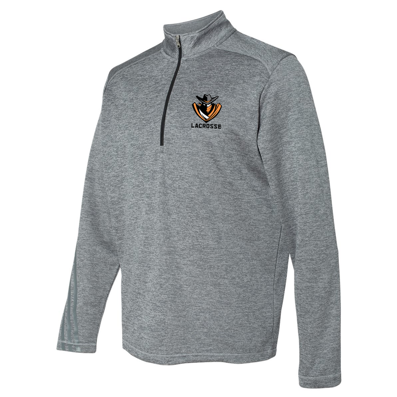 Lake Norman Outlaws Adidas Terry Heathered Quarter-Zip Pullover