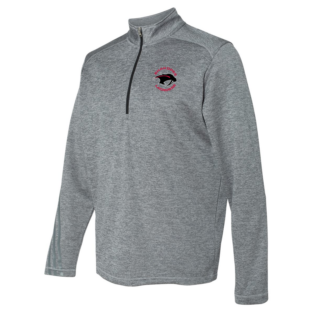 Shakopee Lacrosse Adidas Terry Heathered Quarter-Zip Pullover