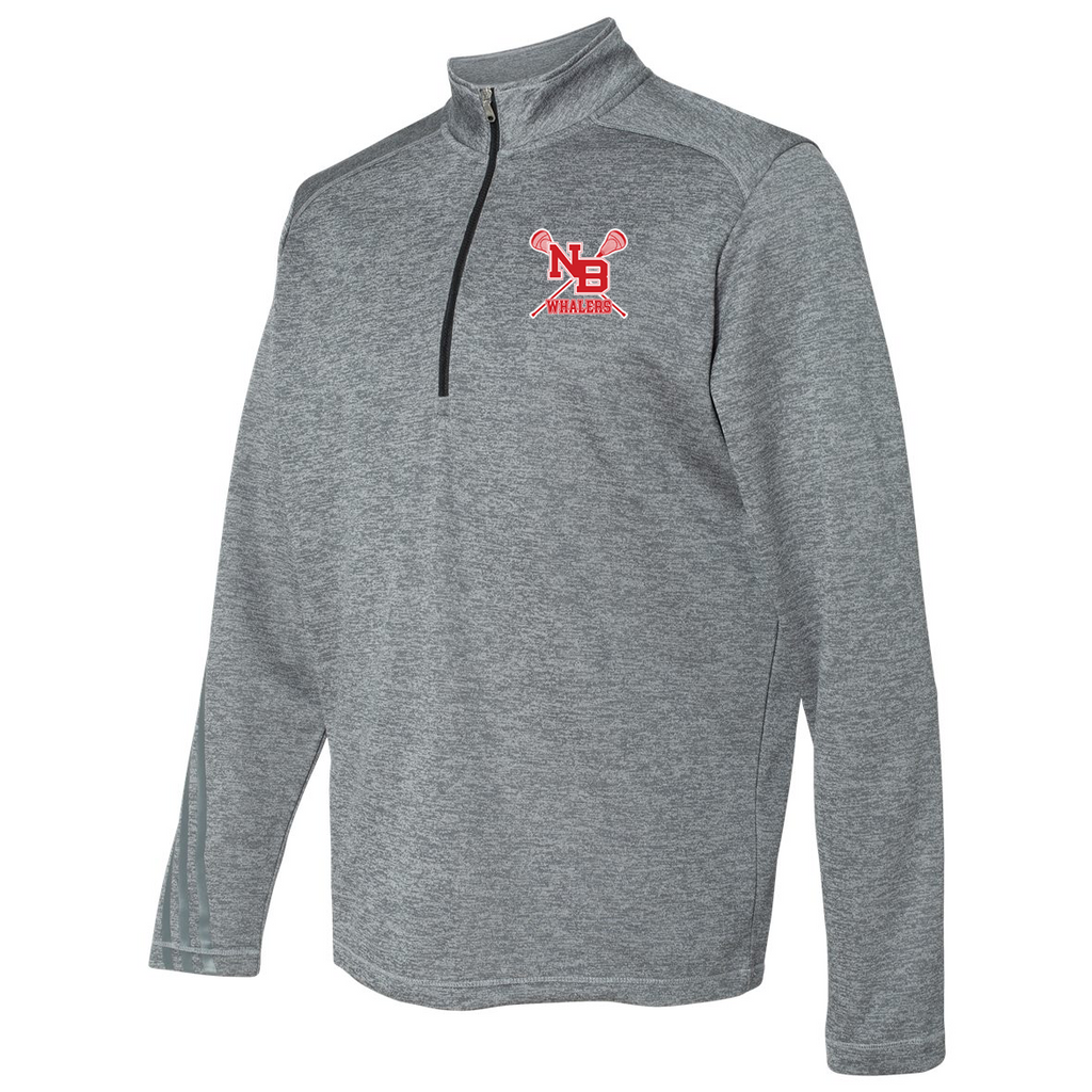 New Bedford Lacrosse Adidas Terry Heathered Quarter-Zip Pullover