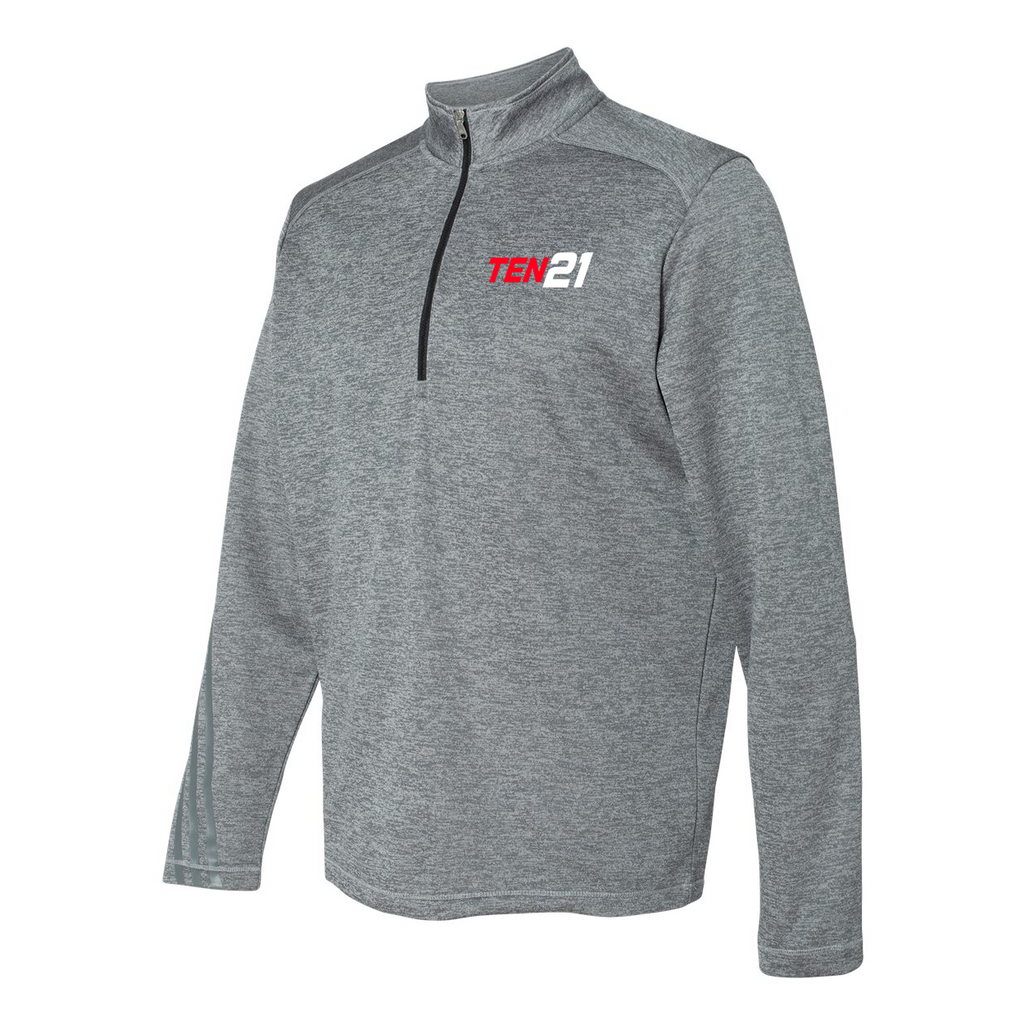 TEN21 Lacrosse Adidas Terry Heathered Quarter-Zip Pullover