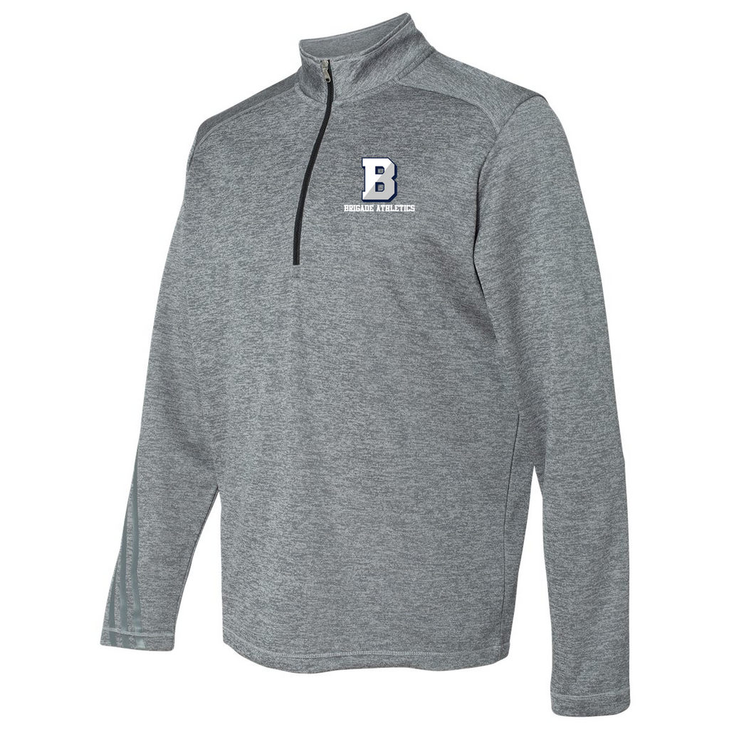Brigade Athletics Adidas Terry Heathered Quarter-Zip Pullover