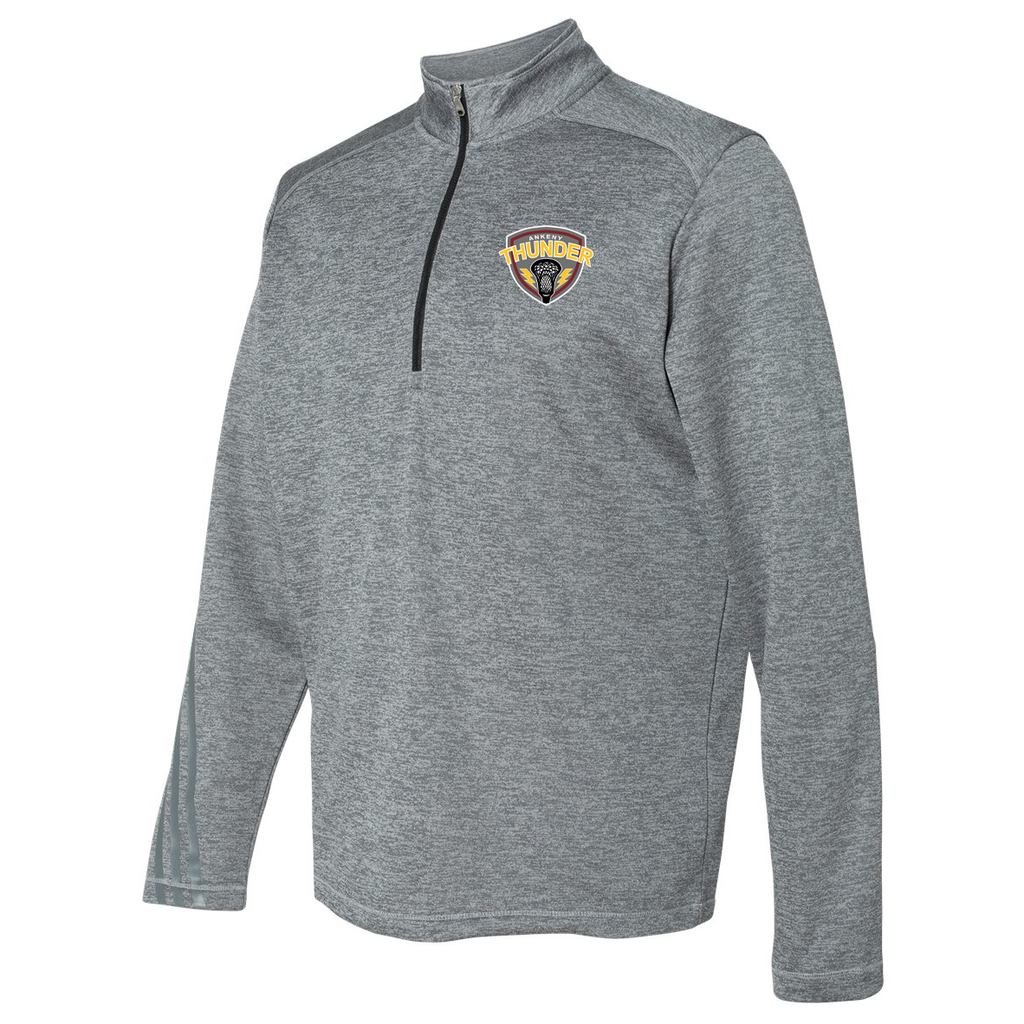 Ankeny Thunder Lacrosse Adidas Terry Heathered Quarter-Zip Pullover