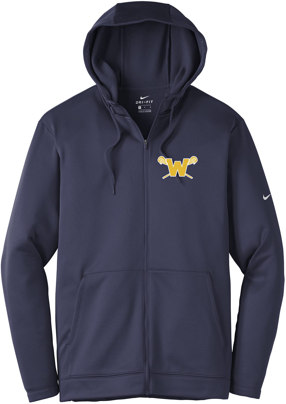 Webster Lacrosse Navy Nike Therma-FIT Full Zip Hoodie