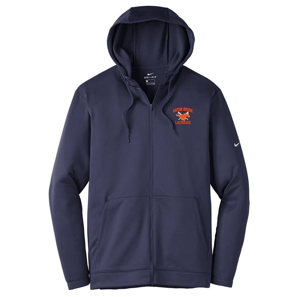 Baton Rouge Mustangs Nike Therma-FIT Full Zip Hoodie