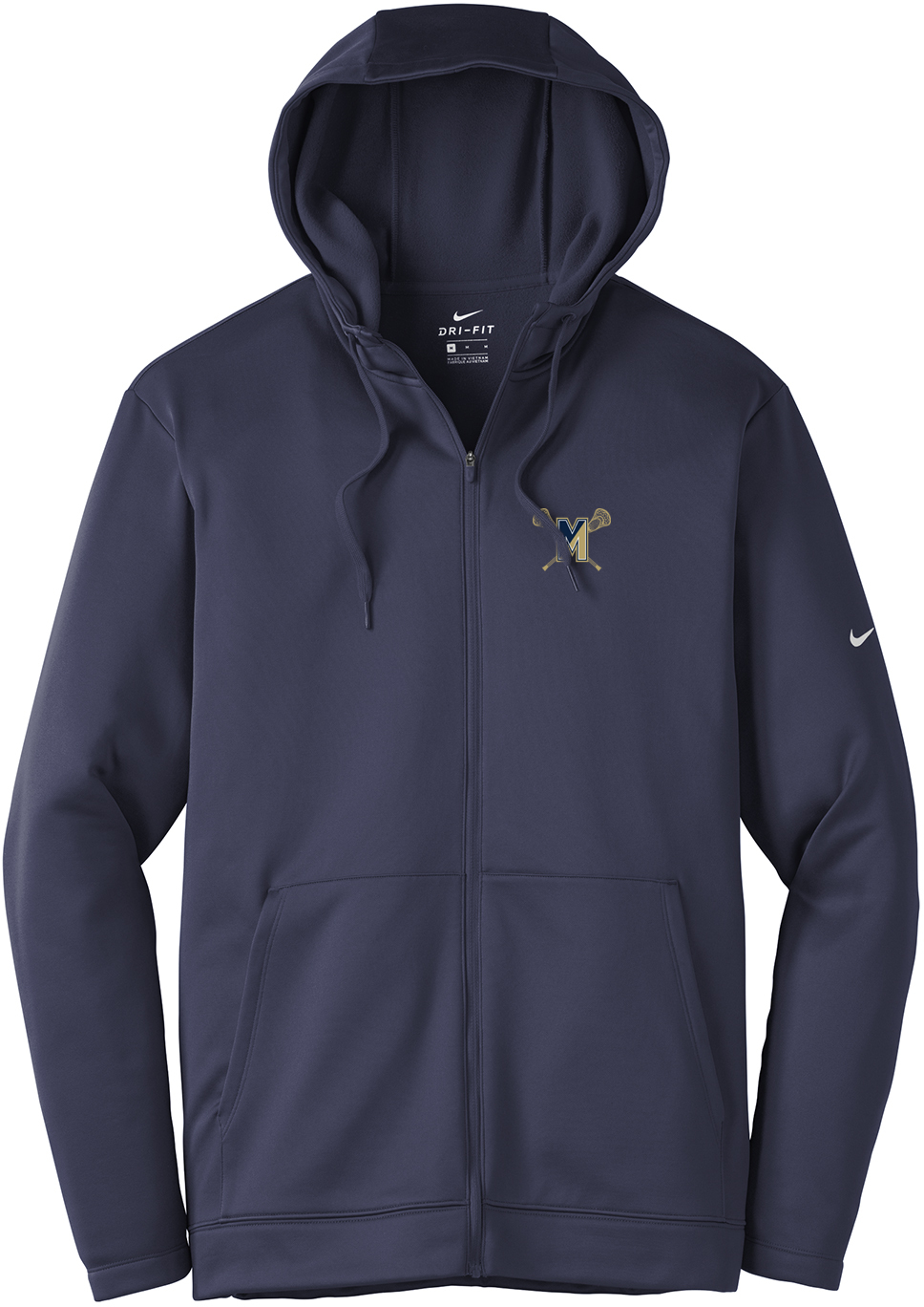 Malden Lacrosse Nike Therma-FIT Full Zip Hoodie