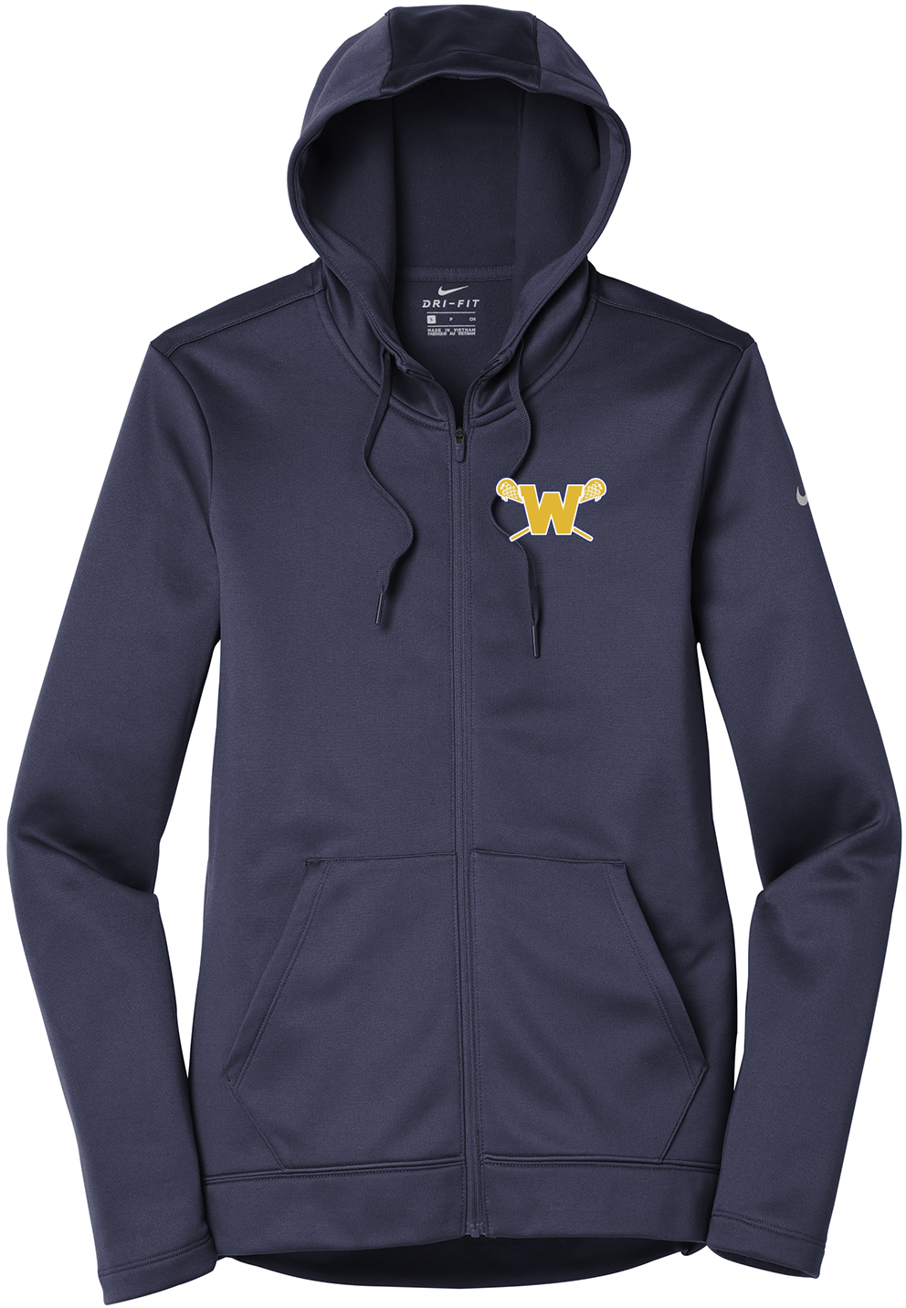 Webster Lacrosse Navy Nike Ladies Therma-FIT Full Zip Hoodie