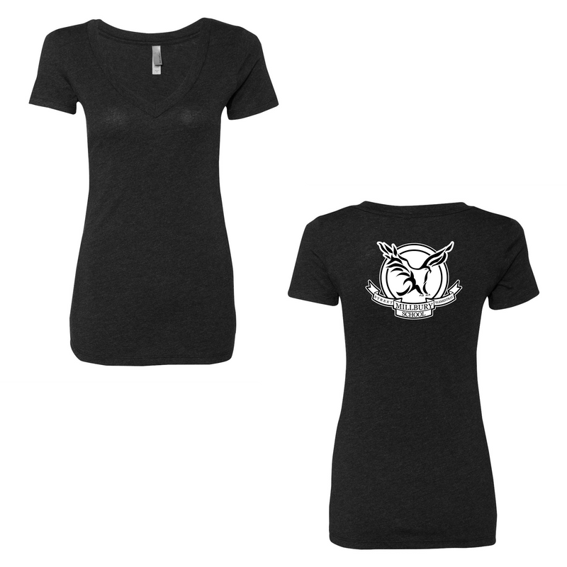 Millbury Street Elementary Next Level Women's Triblend Short Sleeve V Neck