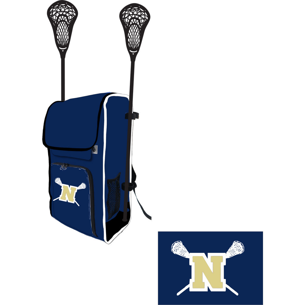 Newington High School Lacrosse Side Stick Holder Large Backpack