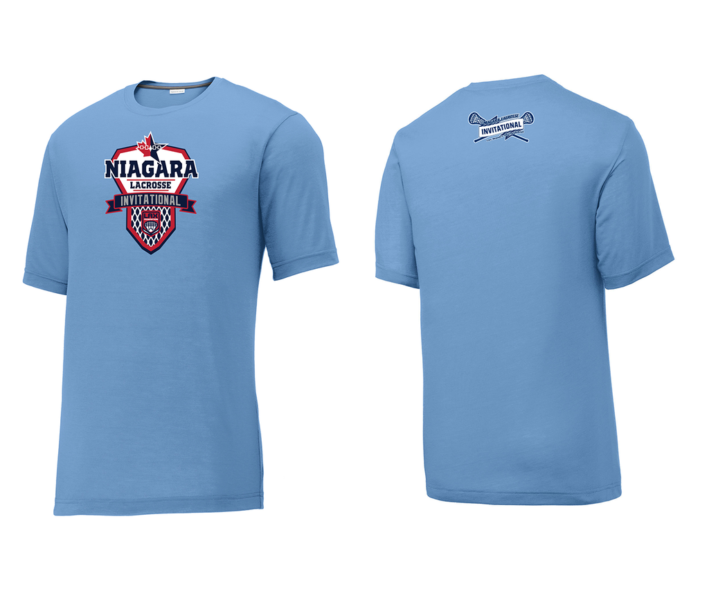 Niagara Lacrosse Invitational Carolina Blue Tournament T-Shirt