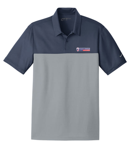 Freedom Lacrosse Navy/Grey Nike Dri-FIT Colorblock Polo