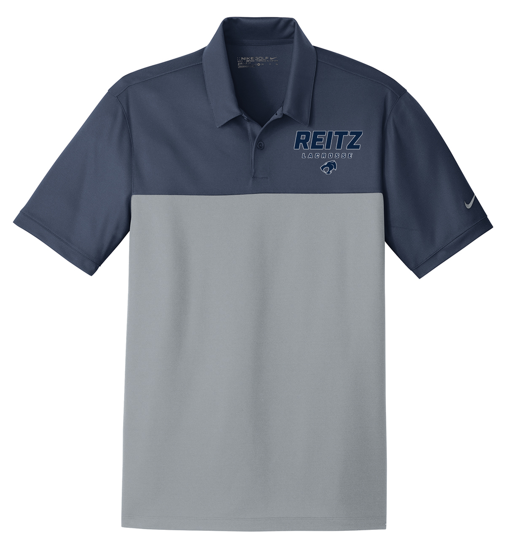 Reitz Lacrosse Navy/Cool Grey Nike Dri-FIT Colorblock Polo