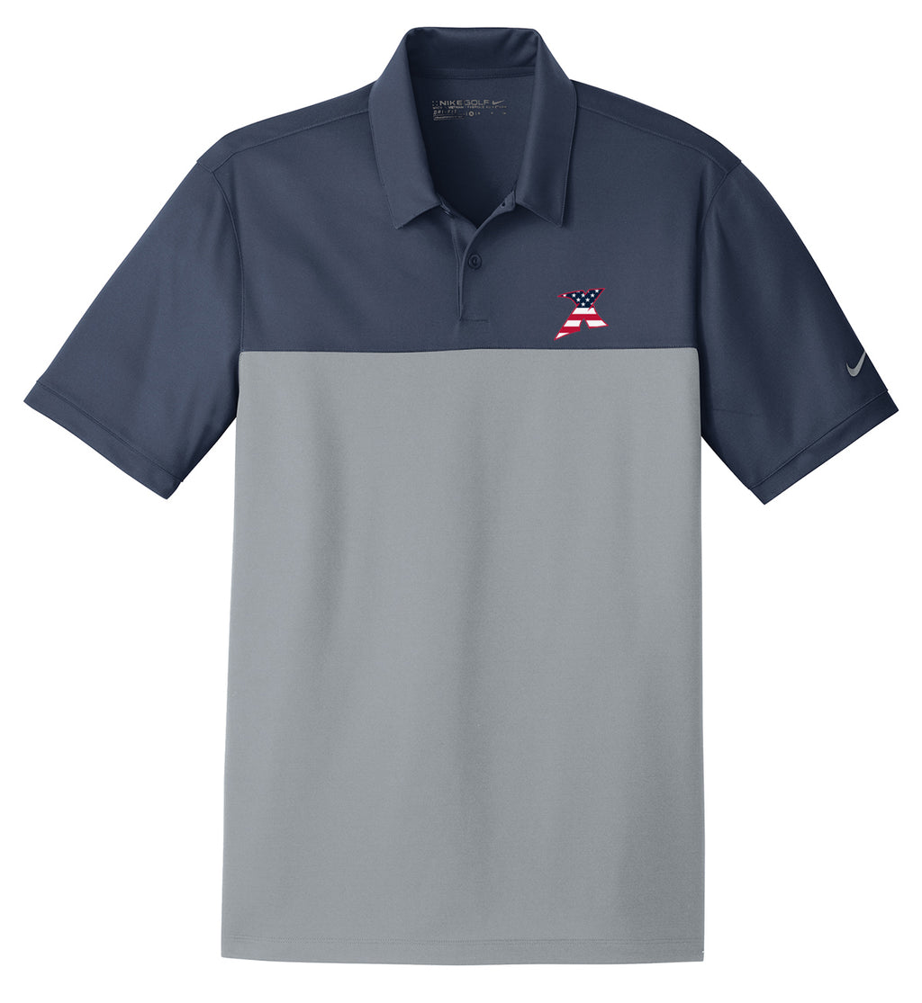 MDX Navy/Grey Nike Dri-FIT Colorblock Polo