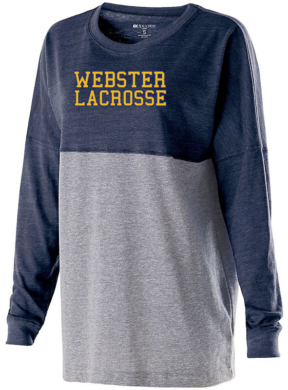 Webster Lacrosse Navy/Grey Women's Colorblock Long Sleeve Tee