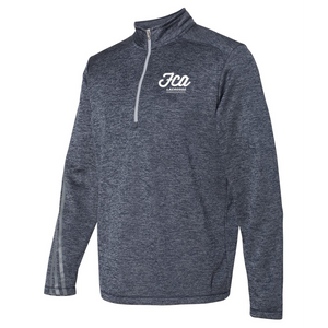 FCA Lacrosse Adidas Terry Heathered Quarter-Zip Pullover