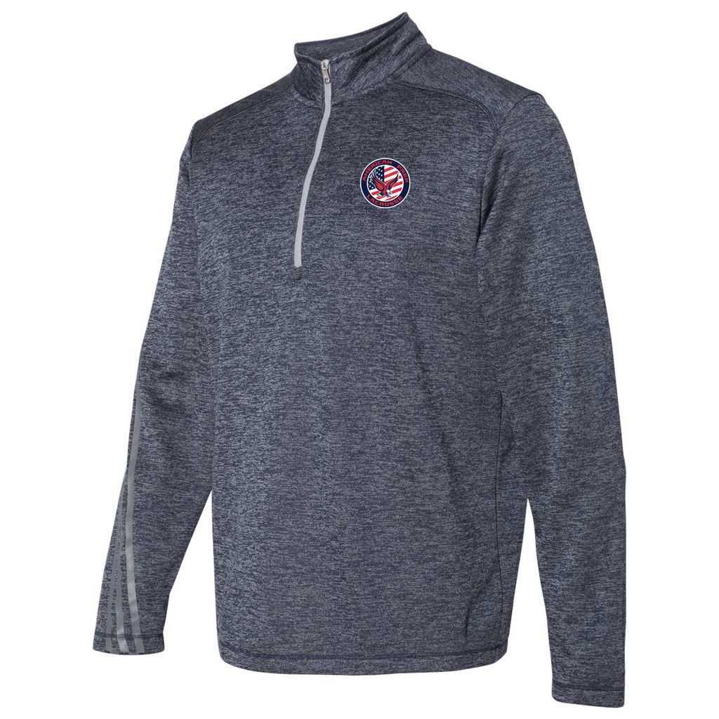 APA Lacrosse Adidas Terry Heathered Quarter-Zip Pullover