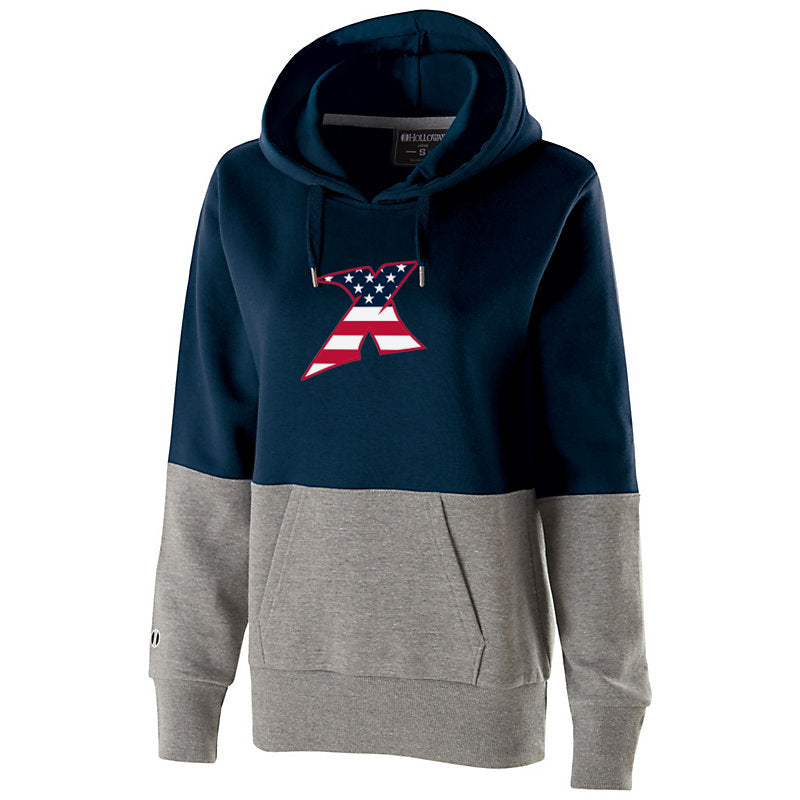 MDX Navy/Heather Women's Colorblock Hoodie
