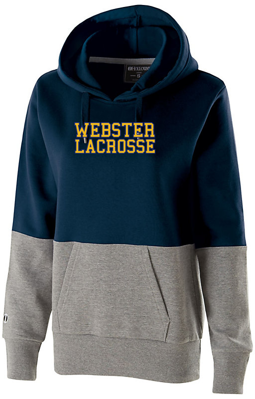 Webster Lacrosse Navy /Grey Colorblock Hoodie