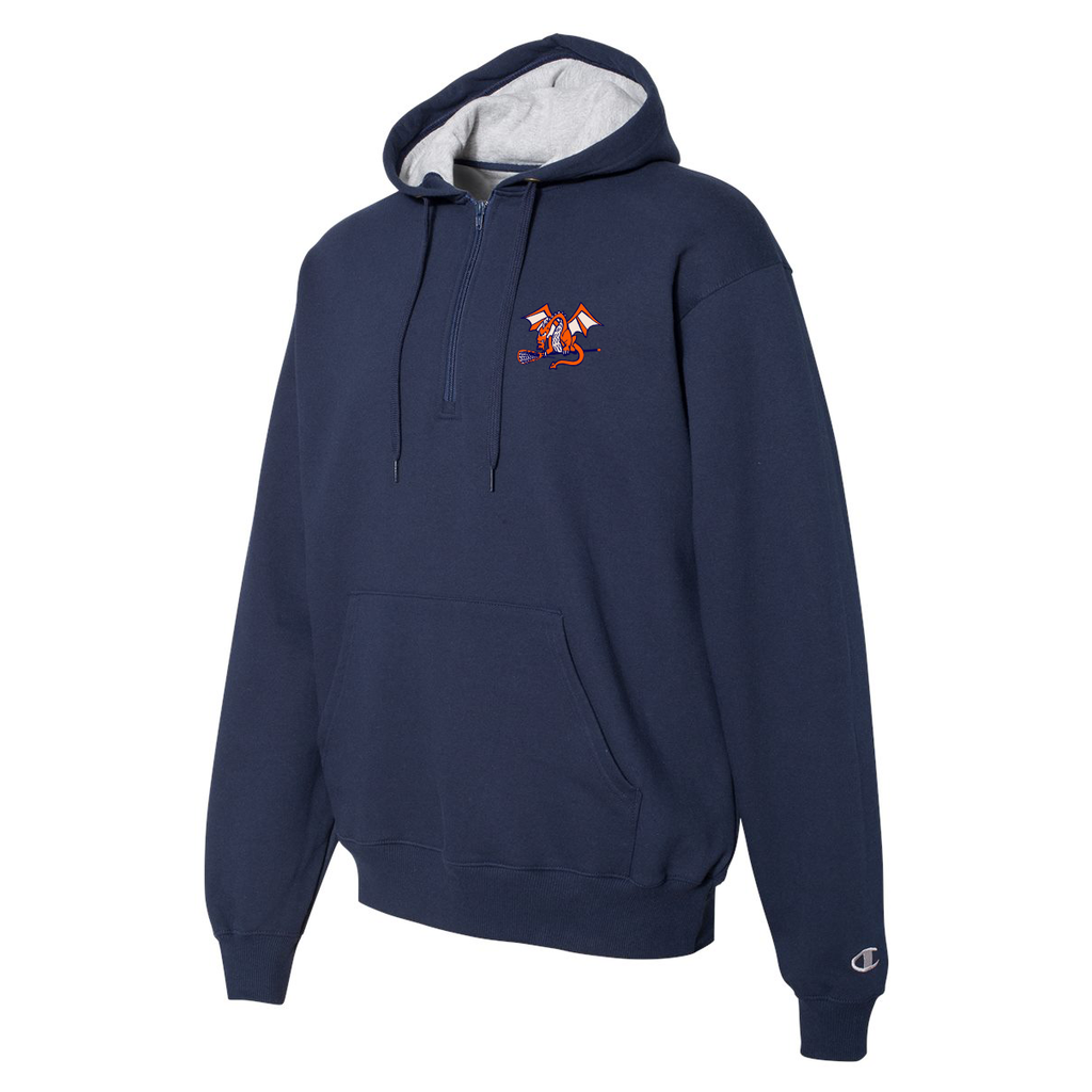 St Petes Dragons Lacrosse Champion Hooded Quarter Zip