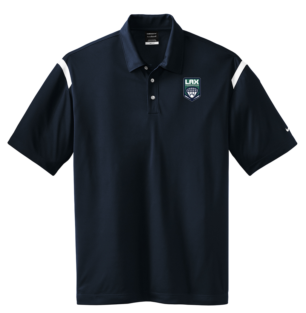 LAX FED Nike Dri-FIT Stripe Polo