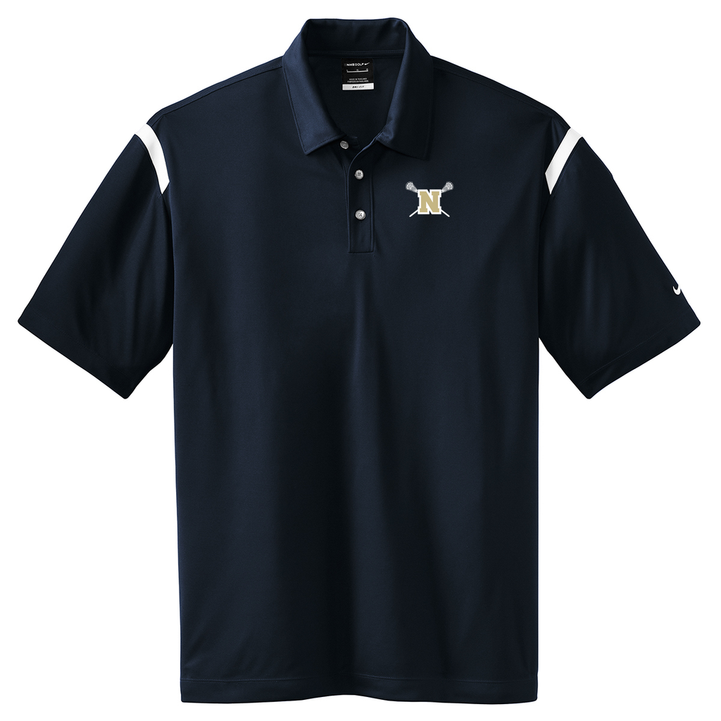 Newington High School Lacrosse Nike Dri-FIT Stripe Polo