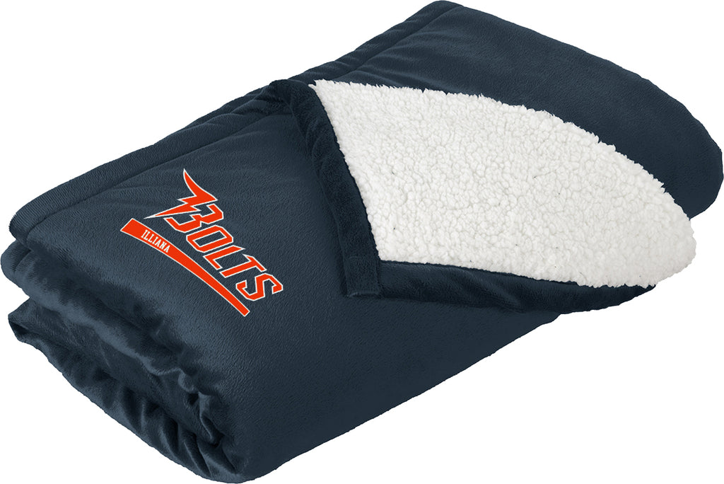 Illiana Thunderbolts Navy Blanket
