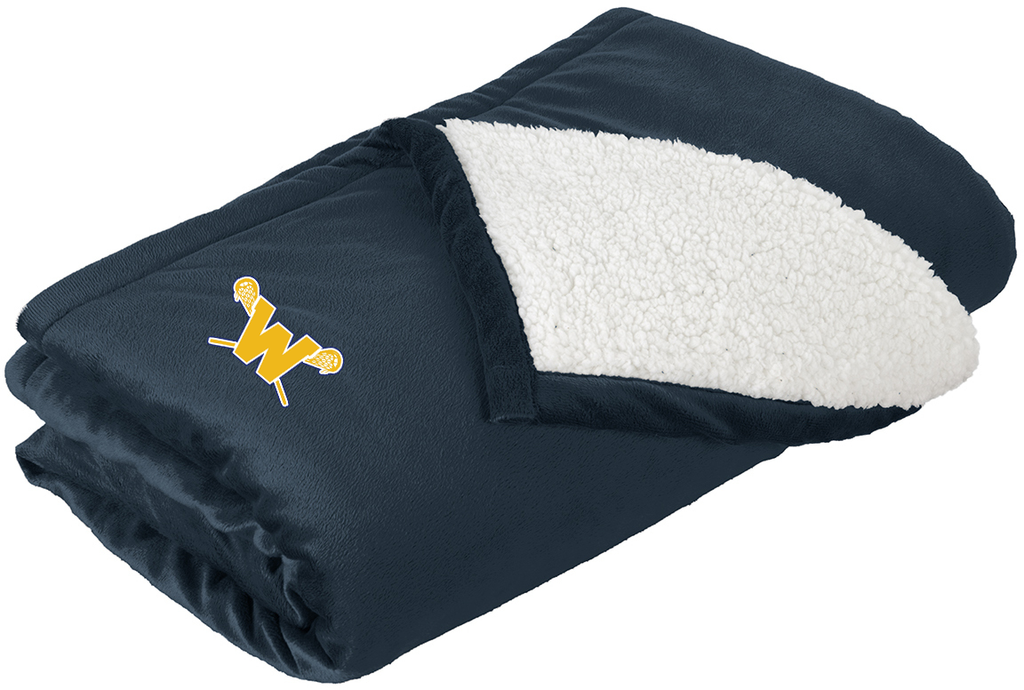 Webster Lacrosse Navy Blanket
