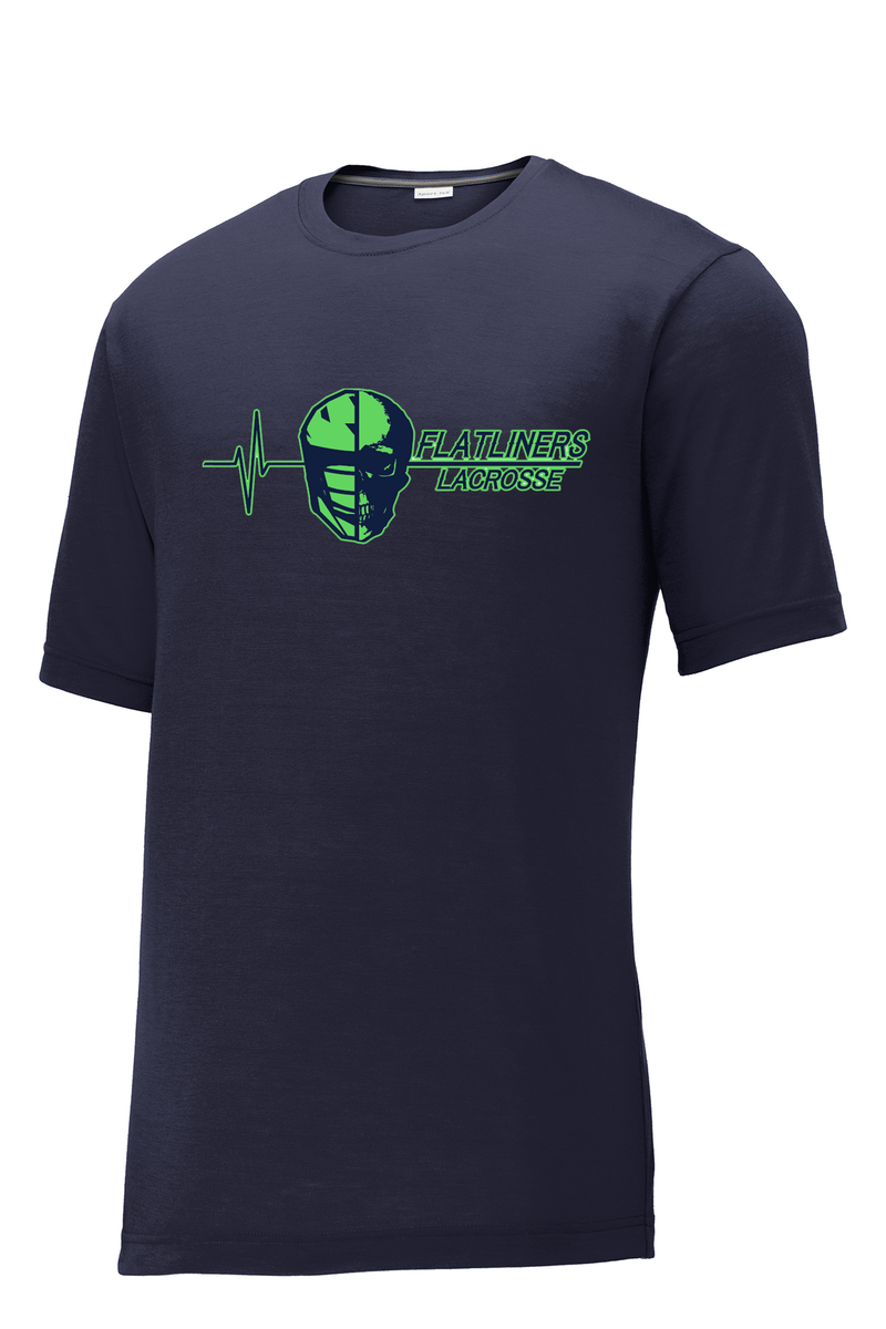 Flatliners Lacrosse Navy CottonTouch Performance T-Shirt