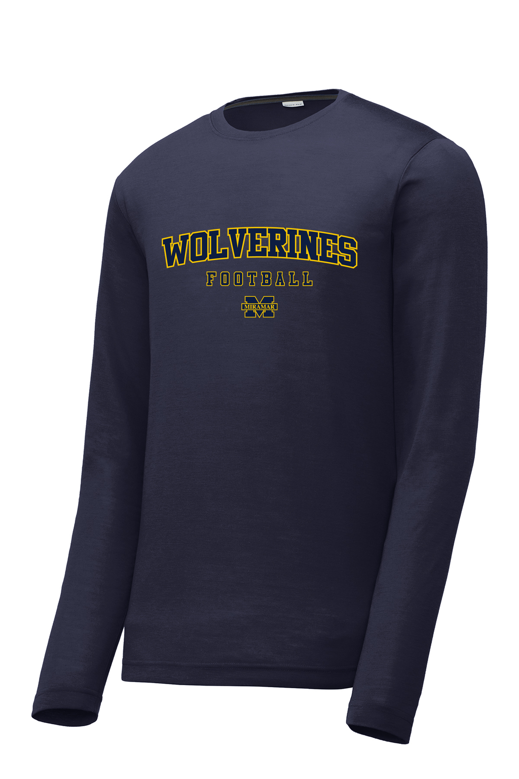 Miramar Wolverines Football Long Sleeve CottonTouch Performance Shirt