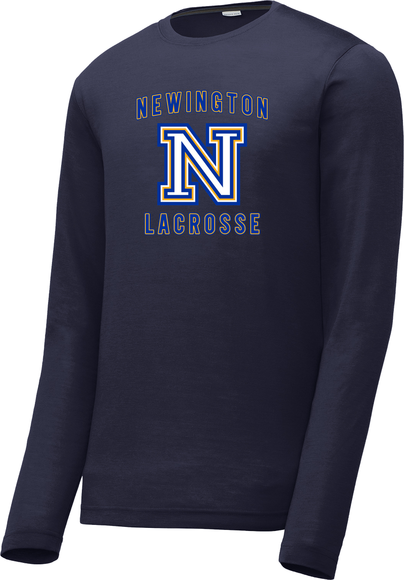Newington Lacrosse Navy Long Sleeve CottonTouch Performance Shirt