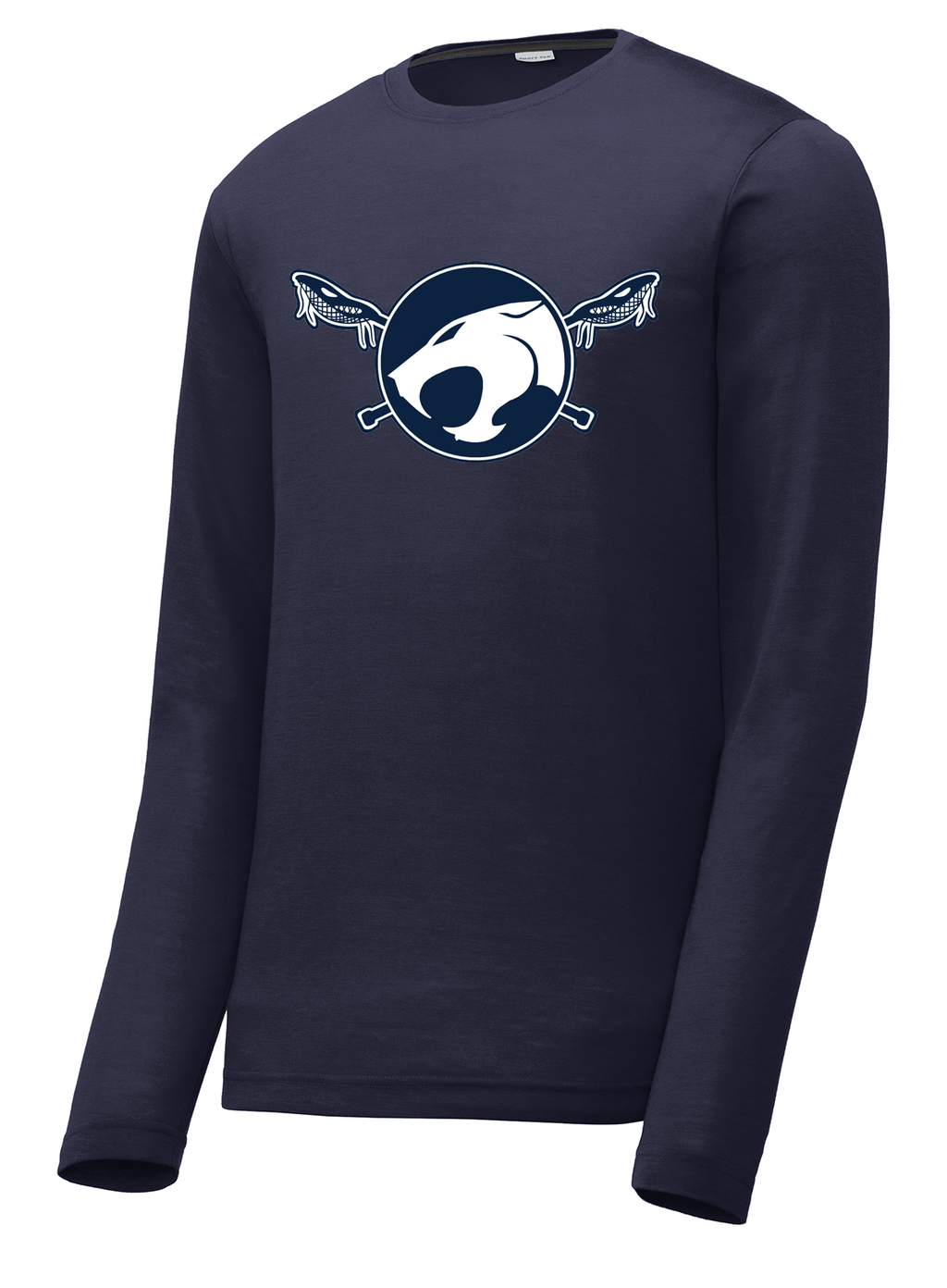 Reitz Lacrosse Navy Long Sleeve CottonTouch Performance Shirt