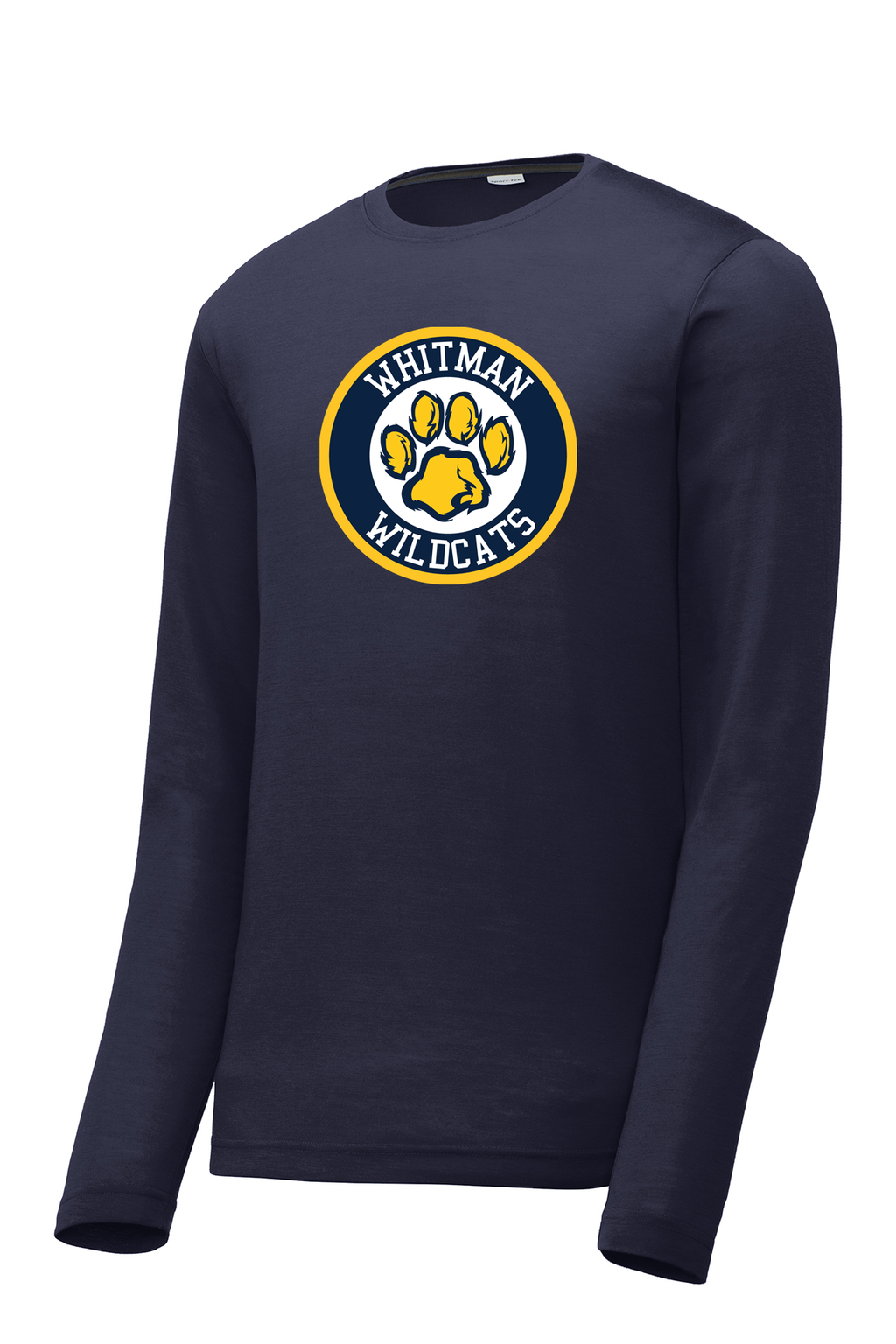 Whitman Wildcats Long Sleeve CottonTouch Performance Shirt