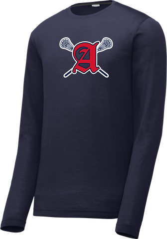 Augusta Patriots Navy Long Sleeve CottonTouch Performance Shirt