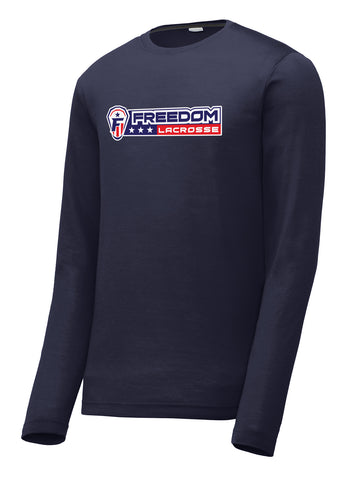 Freedom Lacrosse Navy Long Sleeve CottonTouch Performance Shirt